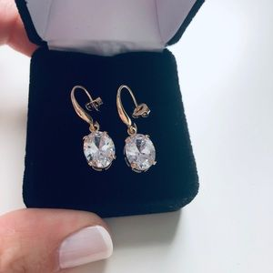 Jewelry - 2.9 Carats Zirconia Earrings 18K Gold Plated